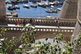 View of one walkway into Dubrovnik from the wall. , John Charrette - November 2017