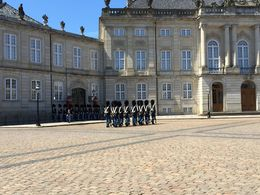 We went to see the Museum which housed the Royal collection and got treated to a show while we were there. The changing of the Guard happens at noon. , Bethany M - June 2015