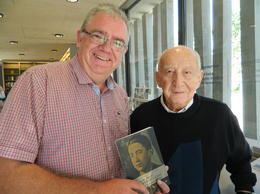 We touched lucky on our visit to Dachau and had the pleasure and honour of meeting concentration camp survivor, Mr Leslie Schwartz , SB T - September 2014