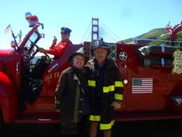 Al and Janie DeAngelis honeymooned in SFO and loved the thrill of the 1955 MACK Fire Engine as it roared through neighborhoods!, Mary Jane R - May 2010