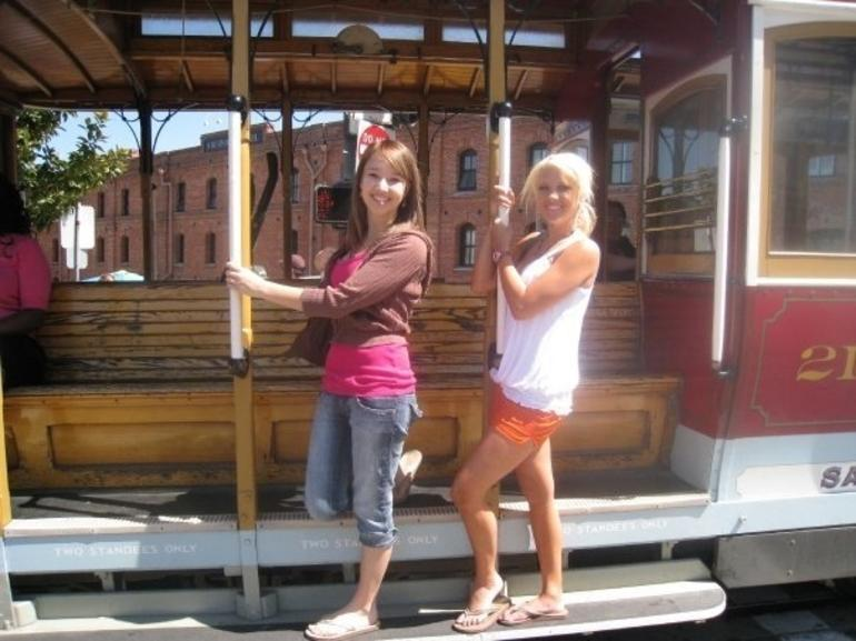 Me and My Friend on Cable Car - San Francisco