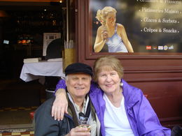Mom and I enjoying a beautiful day at Montmartre , David K - January 2016