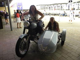On Hagrid's motorcycle , Laura Á - July 2014