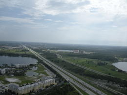 Flying over the many lakes in Orlando, charley - July 2011