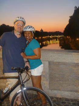 Justin and I with the Vatican in the background , JOANNE L - August 2012