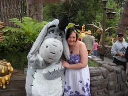 You're never too old to hug a donkey!, LUCY K - June 2011