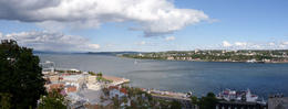 Looking towards Lévis from Quebec City. , Nicole & Eric - October 2014
