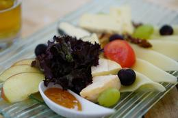 And excellent cheese and fruit sampler purchased at the Abbey. , David K - September 2017