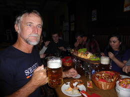 Neil with a beer and a lovely spread of cheeses and meats to snack on. A great way to end the tour. , Sharon P - January 2015