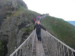 Crossing the bridge very slowly gripping very tight , Neil S - November 2013