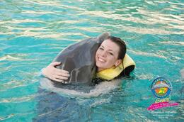Hugging the dolphins! - April 2011