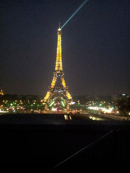 Eiffel Tower at night , wajeeha z - April 2013