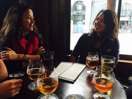 Enjoying a beer at 21st Amendment Brewery - December 2014