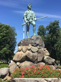 Statue of one of the Minutemen at Lexington. , Phillip B - August 2016