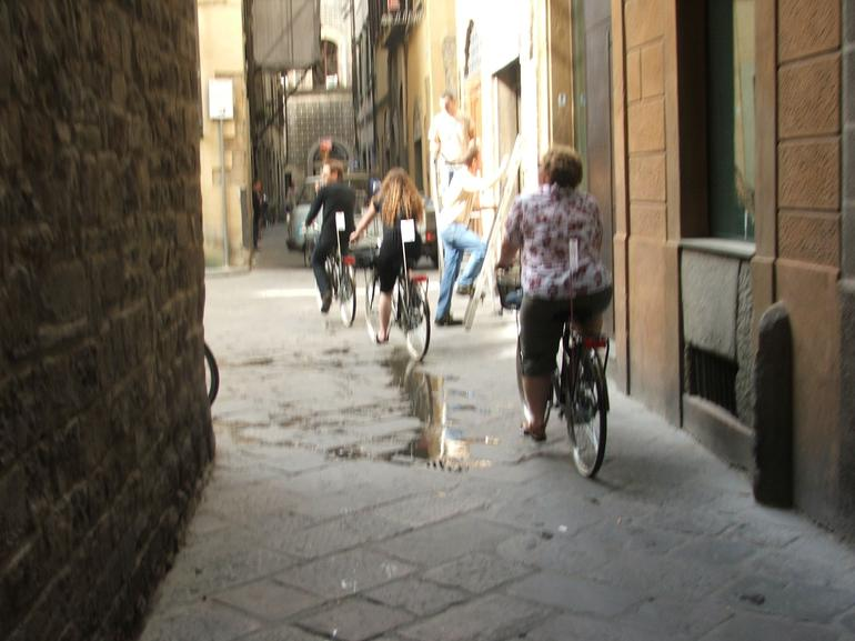 Our Guide Taking Us Down a Back Lane in Florence - Florence