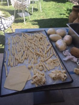 Our prepared fresh pasta , Janet A - July 2015