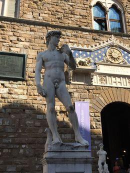 Replica of David in Piazza della Signoria. , David A - September 2015