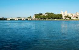 Rhone River cruise: Pont Saint-Benezet, also known as Pont d'Avignon in Avignon, France - December 2011