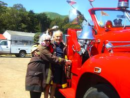 Because we were newlyweds, we got to ring the fire engine's bell!, Mary Jane R - May 2010