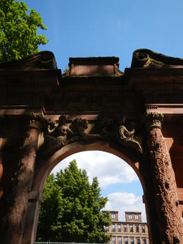 Archway to garden above the main castle , Heather B - July 2013
