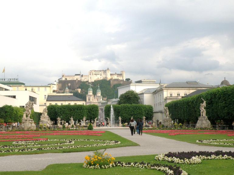 The fortress in the back ground - Salzburg