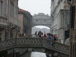Walking tour Bridge of Sighs view in Venice , Ronald R - June 2012