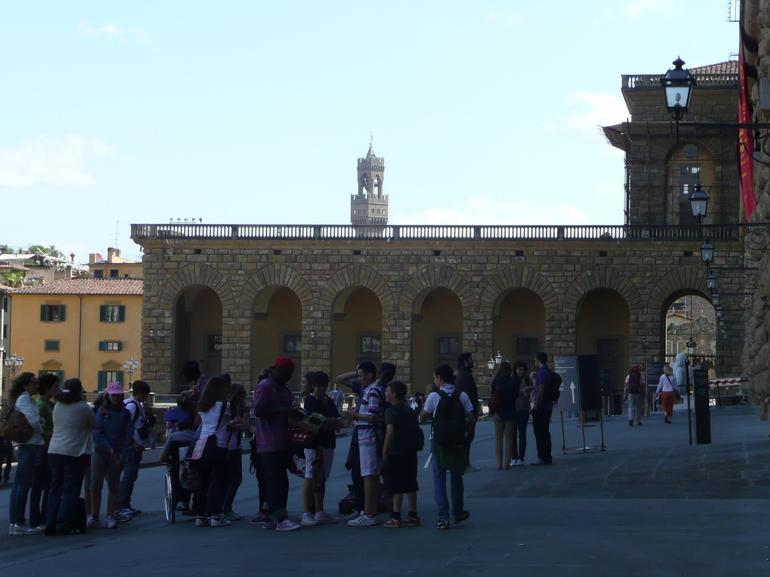 Waiting Outside of the Pitti Palace - Florence