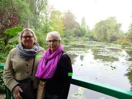 Me and Mom at lily pond at Giverny , Ericka B - June 2017