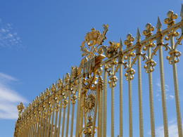 Part of the fence near the main entrance to the palace , Jay S - June 2017