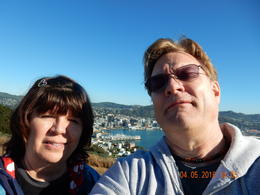 My husband and I on top of Mount Victoria , Monica N - July 2017