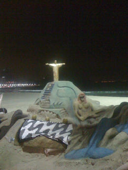 Great art made by the locals out of sand. , Bandit - September 2011