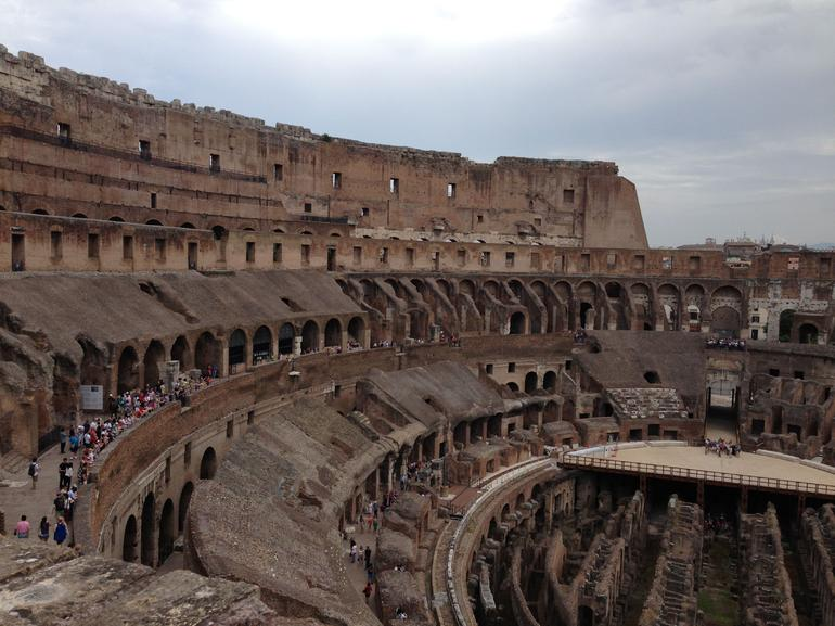 Colosseum from upper level - Rome