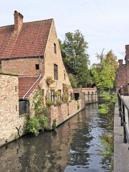 Cottage and canel of Brugge , Tony V - September 2015