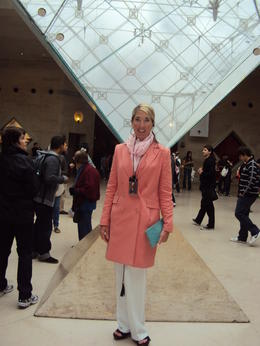 Taking the Viator tour that I booked online while still back in the states......not knowing what to expect when I got to Paris. The tour guide was delightful and this is my moment in front of the..., Katherine Kirk W - July 2011
