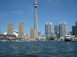 view from the Island Tour Boat looking back to Toronto's waterfront photo's taken by Peter Butcher, Wales, UK celebrating 40 years of marriage with his wonderful Wife Esther , peter.butcher - June 2011