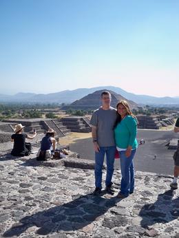 We are on the Moon Pyramid and the Pyramid of the Sun is in the background. , hilda1295 - December 2011