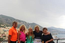 My family overlooking Monte Carlo. , Trish - July 2014