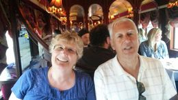 My husband of 40 years and I sharing a wonderful dinner and experience on the Colonial Tramcar Restaurant Tour. , orabka - April 2015