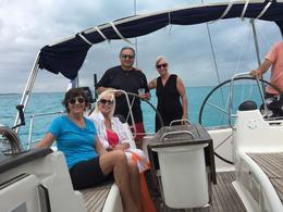 Laura, Karen, Daljit and Pam enjoying our Cancun cruise. , Laura R - February 2017