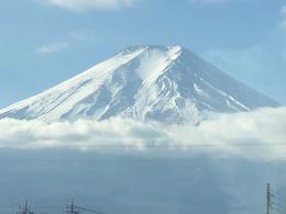 Mt Fuji from the bus , David H - December 2017