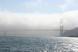 The fog rolling in around the bridge , Erin N - October 2012