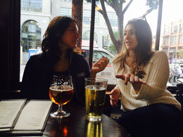 Meeting new people over a nice cold beer - December 2014