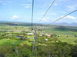 Looking over Cairns from the skyrail , Catherine - November 2011