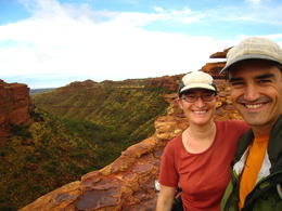 Hubby and I enjoying the beautiful view., Patricia P - January 2011