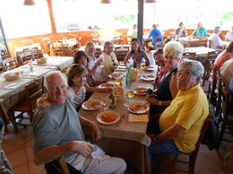 Lunch in Capri with our friendly tour group. , Bradys - September 2011