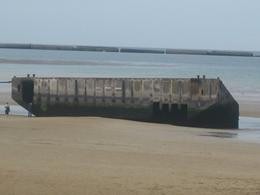 At Sword Beach - only remaining portions following storm in June 1944 and ravages of time, William F - July 2010