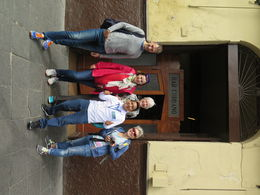 Outside the oldest bar in Lima. , Ann K - July 2016
