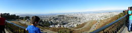 The panoramic view of San Francisco from Twin Peaks. This was toward the end of our city tour, and well worth the wait. , Joseph T - September 2014