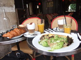 French breakfast/snack that was included in the tour, lovely café, really cool little gallery across the street and park, beautiful out of the way spot. , crossy - August 2014