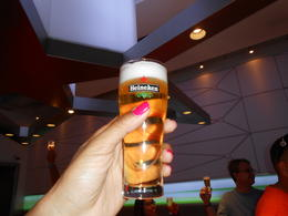 One of many free beers! , Antoninette W - August 2013